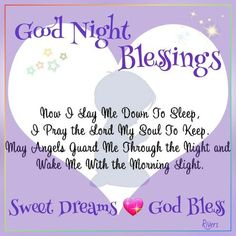 Prayer For A Good Night Blessing Cute Good Night, Good Night Sweet Dreams, Good Night Moon, Good Night Image, Good Morning Good Night, Night Night, Morning Light, Happy Weekend Quotes, Good Day Quotes
