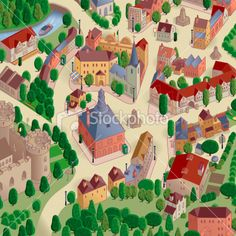 Town Square Map Royalty Free Stock Vector Art Illustration