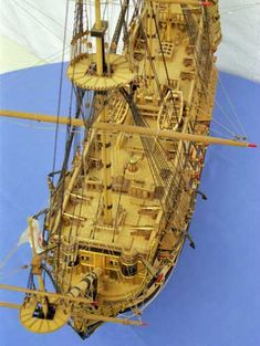 Photos of a fine SAN FELIPE ship model which is a favourite ship among the ship model builders. Ship In Bottle, Model Ship Building, Hms Victory, Man Of War, Boat Art, Wooden Ship, Tall Ships, Model Ships, Battleship