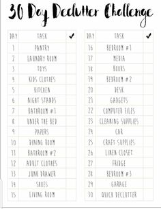 Free Printable Whole House Decluttering Checklist
