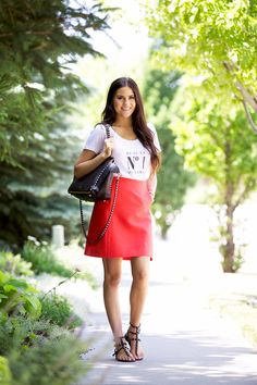Banke Paris… Creative Outlet, Red Skirts, Pink Peonies, Her Style, Casual Chic, Dress Up, Stylish, Lady, Womens Fashion