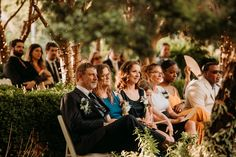 Wedding ceremony seating in Clark Gardens' Channel Gardens. Venue is located between Weatherford and Mineral Wells, Texas. Photo Credit: The Burrow Clark Gardens, Wedding Ceremony Seating, Mineral Wells, Photography Ideas, Wedding Photography, Garden S, Unique Weddings, Photo Credit, Channel