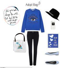 Bolsa urso polar; look azul; look casual