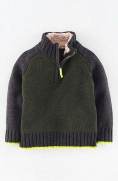 Mini Boden Half Zip Sweater (Toddler Boys, Little Boys & Big Boys)