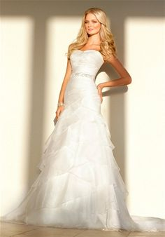 Organza mermaid gown w/sweetheart neckline and detachable embellished belt