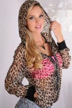 Leopard Print Lightweight Jacket