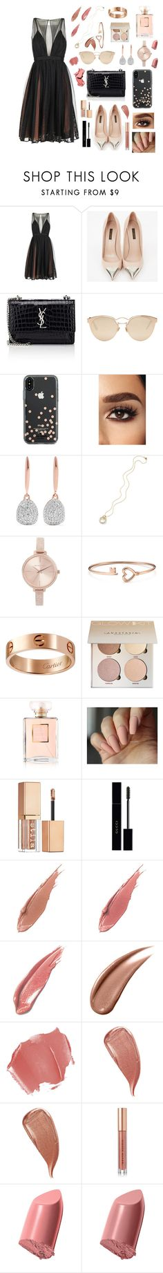 """stylish babe"" by jojogena ❤ liked on Polyvore featuring beauty, Louis Vuitton, Yves Saint Laurent, Christian Dior, Kate Spade, Monica Vinader, Michael Kors, Cartier, Chanel and Stila"