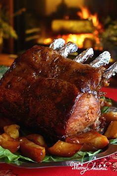 Friptura de porc cu mere si cartofi