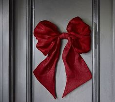 Oversized Red Burlap Bow #potterybarn