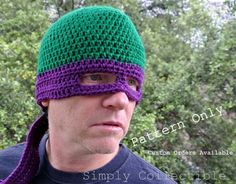 Crochet Pattern TMNT Ninja Turtles Hat by SimplyCollectible