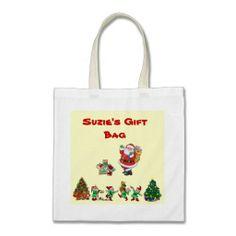 Customizable Holiday Gift Bag #custom #totebag #bag #giftbag #holiday #christmas