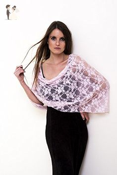 Pink Lace cover Up. Versatile Infinity Shawl You Can Wear As A Shawl, Shrug, Crisscross Or Infinity Scarf. - Bridal fashion accessories (*Amazon Partner-Link)