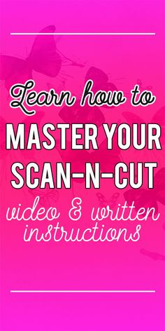 Learn how to use your Scan n Cut at the Brother ScanNCut Training Academy. Step-by-step video and written instructions. Get your ScanNCut out of the box and start using it today. All online tutorials make it easy to learn in your own time.