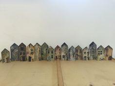 Wood houses (acrylic)