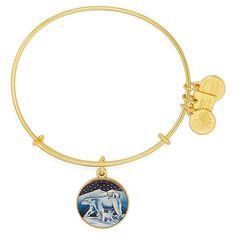 Alex and Ani Polar Bear Bangle Bracelet ($28) ❤ liked on Polyvore featuring jewelry, bracelets, gold, alex and ani bangles, alex and ani jewelry, bear pendant, alex and ani and hinged bracelet