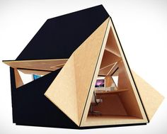 The Tetra Shed might just be the perfect solution for those looking for a private home office space. Place the geometric-shaped unit in your yard to accommodate your office or storage needs. One of the cool things about it is that you can expand it beyond a single module and create larger workspaces. They could even be used as a guest room, garden shed, or kid's playhouse.