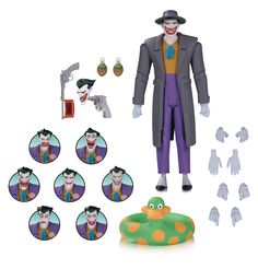 Batman The Animated Series: Joker Expressions Pack [Action Figure] by DC Collectibles, Kirin Hobby Diamond Comics, The New Batman, Batman The Animated Series, Movie Props, Geek Gifts, Animation Series, Cartoon Styles, Dc Comics, Action Figures