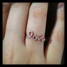 Rose Gold Love Ring - JewelMint