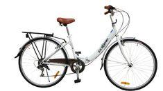ECOSMO 26″ New Folding Ladies Shopper City Bicycle Bike 7 SP SHIMANO -26ALF08W