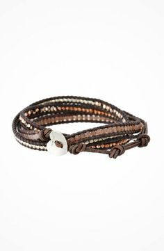 Chan Luu 32' Rose Gold Mix Wrap Bracelet #jewelry https://www.heeyy.com/464146d