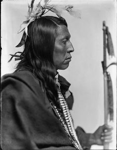 Chief Flying Hawk (1854-1931) was an Oglala Lakota warrior. He fought along with his cousin Crazy Horse, his brothers Kicking Bear and Black Fox at the Little Big Horn in 1876. He was present at the death of Crazy Horse and the Wounded Knee Massacre (1890). When Iron Tail died he became head Chief.