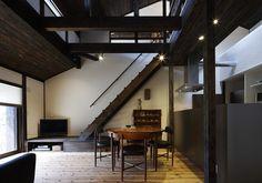 民家 再生 - Google 検索 Layouts Casa, House Layouts, House Property, Japanese Interior, Japanese House, Japanese Style, Old Houses, Kitchen Dining, Dining Rooms