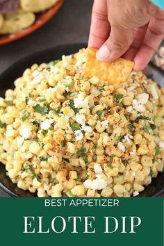 Elote Dip just like Mexican Street Corn but It's in Dip-form of the cob-form. It is the perfect combo of sweet corn and creamy mayo. Plus It's very easy to eat and tastes so good, you won't even need any type of chips. This is an easy Dip recipe! Dip Recipes, Crockpot Recipes, Baked Zucchini Fritters, B Food, Dinner Party Menu, Mexican Street Corn, Delicious Dinner Recipes, Yummy Recipes, Sweet Corn