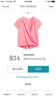 Kaileigh Ruthie Wrap Knit Top $34