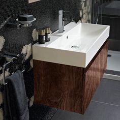 Mino 500 and drawer unit basin -walnut | bathstore