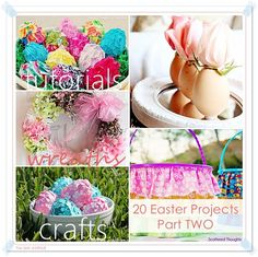 These 20 Easter Projects are AMAZING. Super cute and easy to make. #easter #crafts the36thavenue.com