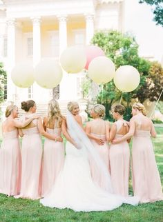 Big balloons and adorable bridesmaids: http://www.stylemepretty.com/2013/11/20/a-maryland-estate-wedding-from-jodi-miller-photography/ | Photography: Jodi Miller - http://jodimillerphotography.com/