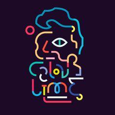 En lo más fffres.co: Los retratos del arte a base de línea y color: Este diseñador e ilustrador argentino sintetiza las figuras más…
