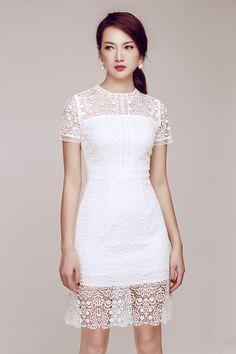 Amy store 201 Kim Mã. Gala Dresses, Evening Dresses, Short Dresses, Formal Dresses, Dress Skirt, Lace Dress, White Dress, Thai Traditional Dress, Cocktail Outfit