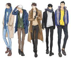 Former Kitagawa Daiichi - Haikyuu! Iwaizumi Hajime, Iwaoi, Kageyama Tobio, Kagehina, Haikyuu Fanart, Haikyuu Anime, Anime Friendship, Haikyuu Characters, Drawing Clothes