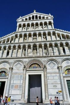 Facade of the Cathedral of Pisa, Italy