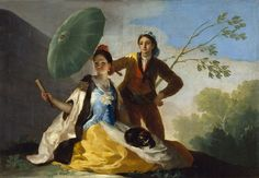 Francisco Goya The Parasol, , Museo del Prado, Madrid. Read more about the symbolism and interpretation of The Parasol by Francisco Goya. Spanish Painters, Spanish Artists, Renoir, Francisco Goya Paintings, Francisco Jose, Painting Prints, Art Prints, Artwork Paintings, Dark Paintings