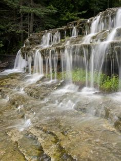 Magical Autrain Falls by Cindy Lindow Michigan Vacations, Michigan Travel, Beautiful Landscape Photography, Beautiful Landscapes, Beautiful World, Beautiful Places, Beautiful Pictures, Michigan Waterfalls, Beautiful Waterfalls