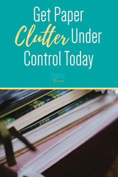 Paperwork Organization Ideas for Home - Filing System and Storage for Paper Clutter - 5 Steps To Control Your Paperwork Paperwork Organization, Small Space Organization, Home Organization Hacks, Organizing Ideas, Declutter Your Home, Organizing Your Home, Organizing Clutter, Bullet Journal Cleaning Schedule, Home Filing System