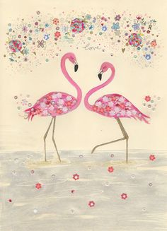 Flamingo Love / A4 print. Home decor, kids wall art. flamingo on Etsy, $15.83