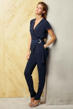 Buy Navy Belted Jumpsuit from the Next UK online shop