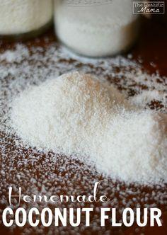 Homemade coconut flour - a gluten free alternative