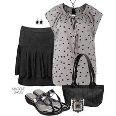 """Outfit of the Day: """"Peplum Skirt"""" Made with ♥ by Maggie Bags on #Polyvore #MaggieBags #handbags #purses #fashion #ootd"""
