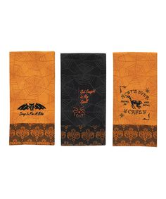 Take a look at this Halloween Icon Dish Towel Set on zulily today!