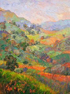 Wildflower Hills Painting by Erin Hanson