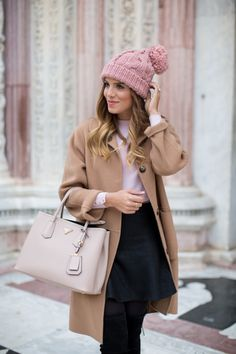 CH Carolina Herrera Coat c/o (similar camel coats here, here and here), Zara Sweater (similar...