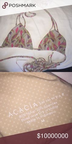 ACACIA Swimwear Vintage Hawai'i Haena Top! Barely used, NO flaws, awesome condtion!! Sad to sell but really need $! Don't see this print often anymore. Make OFFERS thru bottom also:) Not selling for too much❣ Orange same style but not selling. acacia swimwear Swim Bikinis