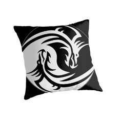 Yin & Yang dragons, black   30% off Tapestries, Pillows, Mugs, Totes & Kids Clothes. Use FINDGIFTS30 Also available as T-Shirts & Hoodies, Men's Apparels, Women's Apparels, Stickers, iPhone Cases, Samsung Galaxy Cases, Posters, Home Decors, Tote Bags, Pouches, Prints, Cards, Mini Skirts, Scarves, iPad Cases, Laptop Skins, Drawstring Bags, Laptop Sleeves, and Stationeries #home #decor #pillows #throw #bedroom #design #style #sale #trending #popular