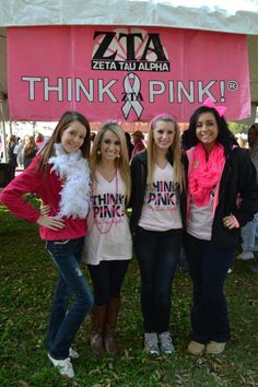 New members were excited to participate in their first Think Pink event at Race for the Cure. #zta