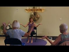 """""""Stop in the Name of Love!"""" Chair Yoga Dance with Sherry Zak Morris - YouTube"""