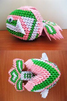 3d Origami Koi Fish by OrigamiLandDeco on Etsy, $12.00